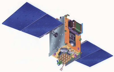 GSAT-4, wizja artystyczna, (c) ISRO