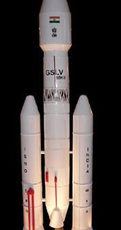 Model rakiety GSLV Mk III (ISRO)