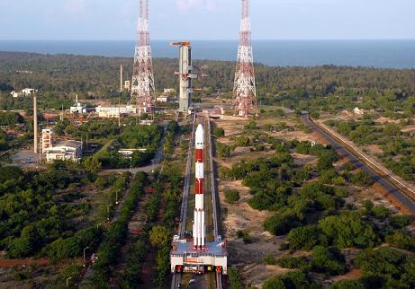 Rakieta GSLV, zdjęcie z kwietnia tego roku / Credits - ISRO