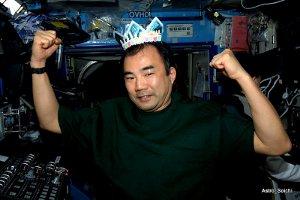 Soichi Noguchi obchodzi urodziny na pokładzie ISS - 15 kwietnia 2010 / Credits - Astro_Soichi (czyli Soichi Noguchi)