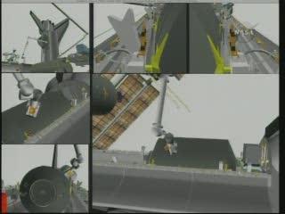 Godzina 09:14 CEST - MPLM wewnątrz ładowni promu / Credits - NASA TV
