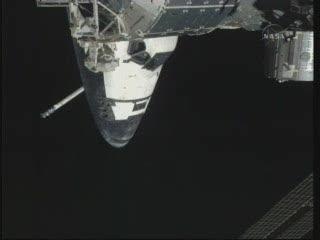 Godzina 13:30 CEST - skany sekcji dziobowej promu / Credits - NASA TV