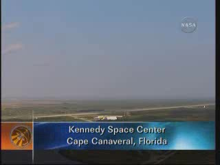 Godzina 15:00 CEST - widok na KSC / Credits - NASA TV