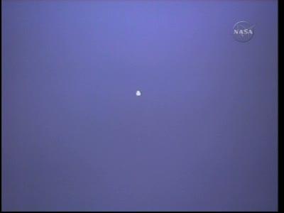 Wahadłowiec Discovery widoczny ze stacji ISS / Credits: NasaTV