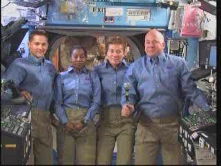 Konferencja z udziałem astronautów / Credits - NASA TV