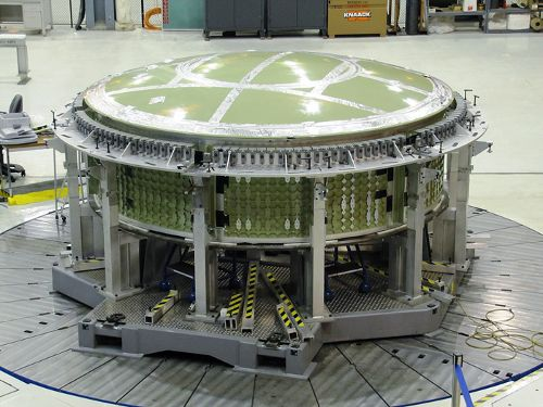 Zdjęcie przedstawiające Aft Assembly do którego dołączony zostanie fragment Forward Assembly. Credits: Lockheed Martin