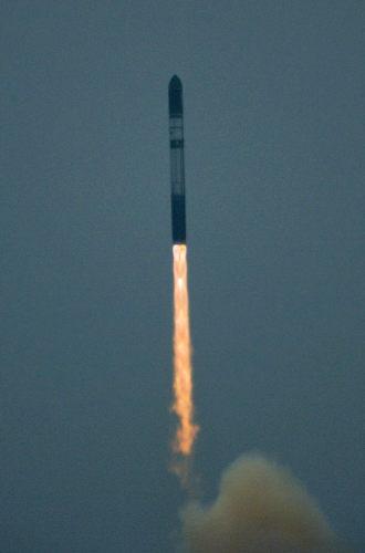 Rakieta Dniepr wynosząca satelitę  CryoSat-2, (c) ESA