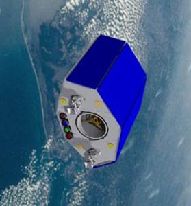 NigeriaSat-2 - wizualizacja / Credits: SSTL