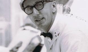 G. Wendt podczas pracy na stanowisku startowym / Credtis: NASA