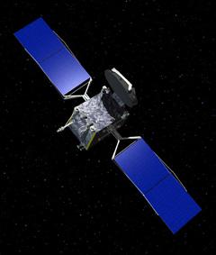 Galaxy-15 - wizualizacja satelity na orbicie, Credits: Orbital Sciences Corp.