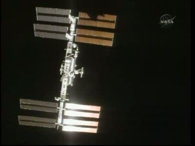 Międzynarodowa Stacja Kosmiczna podczas misji STS-132 / Credits - NASA TV