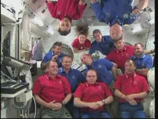 STS-132 i Ekspedycja 23 - wspólna konferencja / Credits - NASA TV