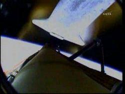 Chwilę po odłączeniu zbiornika ET promu / Credits - NASA TV