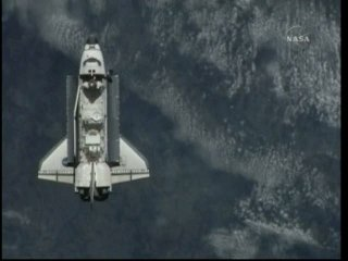 Za chwilę manewr RPM / Credits: NASA TV & Ronsmytheiii