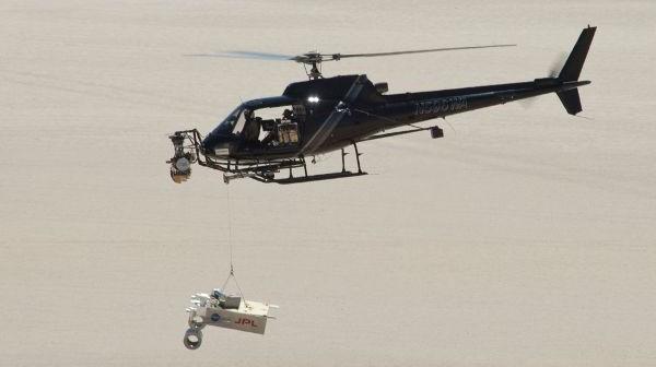 Testy radaru lądującego dla łazika Curiosity (NASA/JPL)