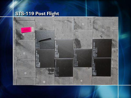 Zdjęcie modyfikacji osłony termicznej wykonane po locie STS-119 (NASA)