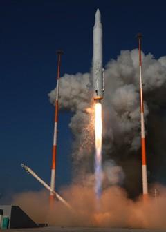 Start pierwszego egzemplarza KSLV-1, 25 sierpnia 2009, (c) KARI