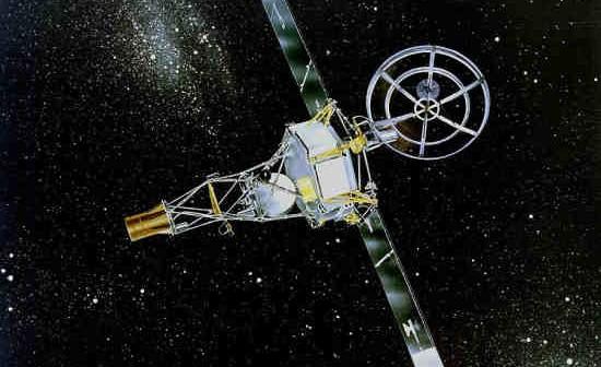 Wizja artystyczna sondy Mariner 2 (NASA/JPL)