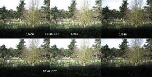 Zdjęcia sekwencyjne w trybie autobracketingu - testy aparatu dla misji / Credits - K. Kanawka