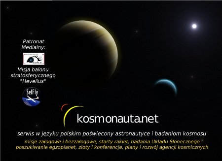 Plakat Kosmonauty.net na Pikniku Naukowym - tam będziemy