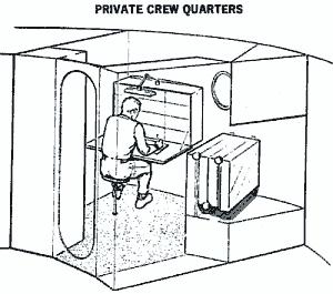 Szkic kwatery osobistej załogi (McDonnell-Douglas)