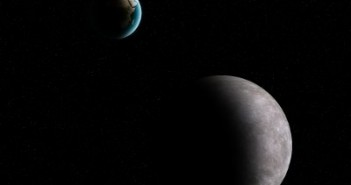 Planeta Ziemia (w tle) - tam z pewnością istnieje życie / Credits - K. Kanawka