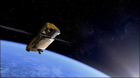 Iridium Next - wizja artystyczna, (c) Iridium/Thales Alenia Space