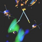 Satelity Cluster - wizualiacja / Credits: ESA