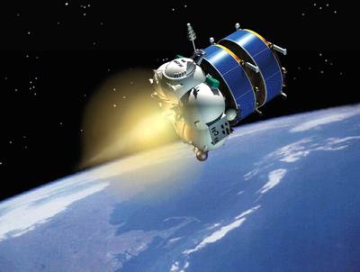 Człon Fregat rakiety Sojuz wynosi na orbitę 2 statki Cluster - wizualizacja (Credits: Starsem)