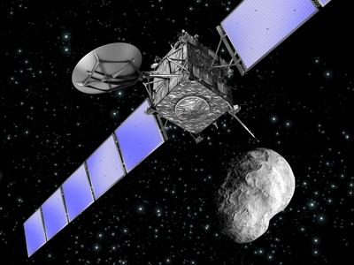Artystyczna wizja sondy Rosetta / Credits - ESA