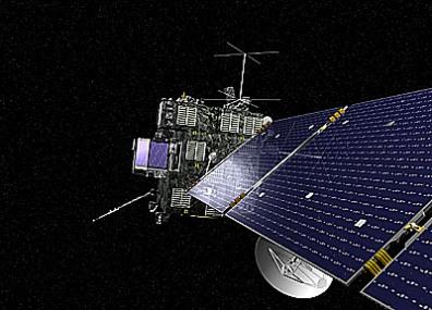 Sonda Rosetta - czarna powłoka izolacyjna pozwala na utrzymanie odpowiedniej temperatury w głębokiej przestrzeni kosmicznej (Credit: ESA)