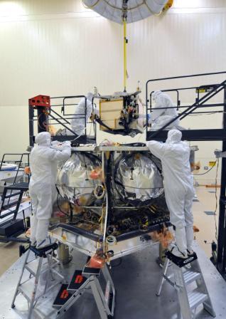Prace nad osłoną radiacyjną Juno (NASA-JPL)