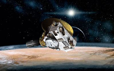 Wizualizacja misji New Horizons / Credits: JHUAPL/SwRI