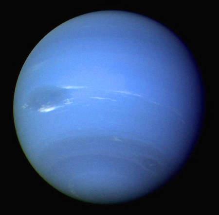 Zdjęcie Neptuna, uzyskane przez sondę Voyager 2 (NASA/JPL)