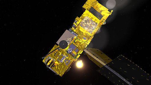 Satelita Aqua (Credits: NASA - Public Domain)