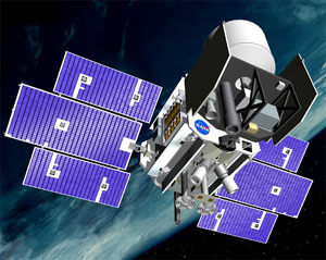 Satelita ICESat (Credits: NASA - Public Domain)