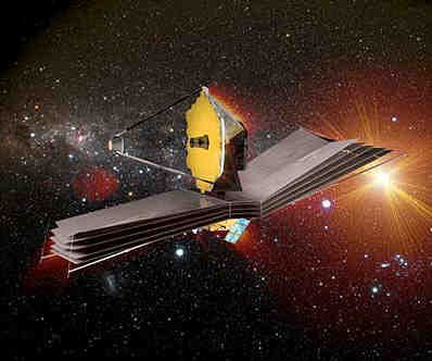 Wizja artystyczna JWST / Credits: NASA
