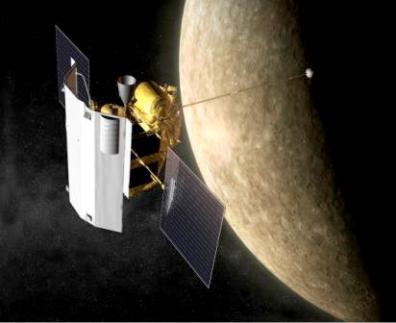 MESSENGER i Merkury - wizja artystyczna (Credits: NASA)