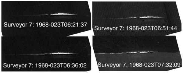 Obraz LHG zarejestrowany przez lądownik Surveyor 7 (NASA)