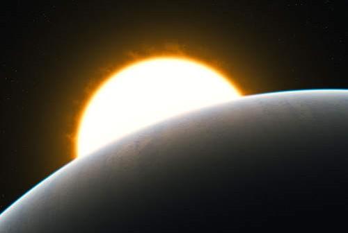 Wizja artystyczna HD 209458b (ESO/L. Calçada)