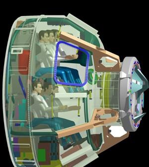 Zaprezentowany przekrój przez CST-100 (Credits: Boeing)