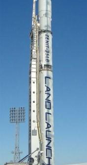 Zenit-3SLB - naziemna wersja rakiety Zenit-3 wykorzystywanej przez Sea Launch (Credits: Jużnoje)