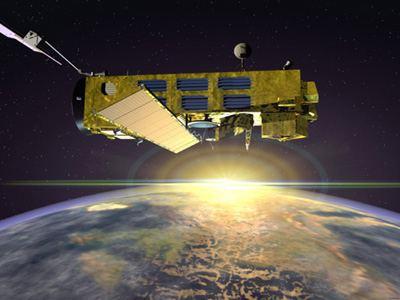 Wizja artystyczna sondy Envisat / Credits - ESA