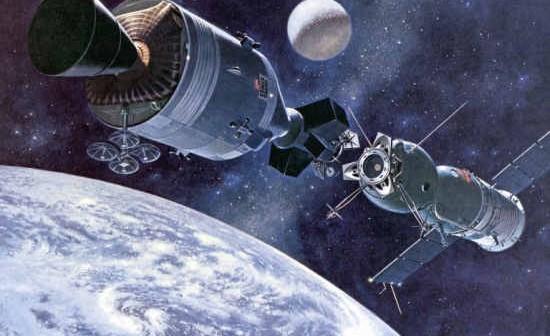 Wizja artystyczna Apollo Soyuz Test Project (NASA - MSFC-75-SA-4105-2C)