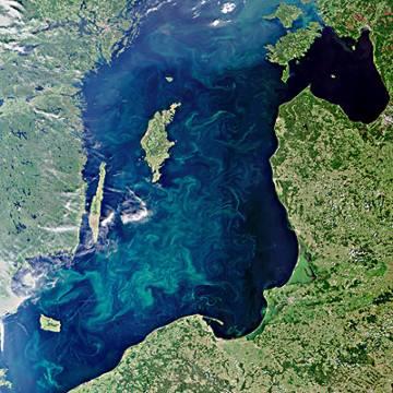Morze Bałtyckie latem / Credits - ESA