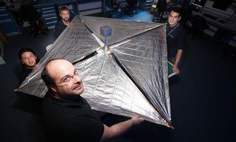 Jeden z testów związanych z koncepcją CubeSail / Credits - Frank Baron for the Guardian