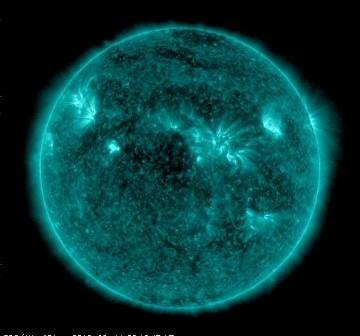 Obraz Słońca z dnia 11 sierpnia 2010 (AIA 131) / Credits - NASA, SDO