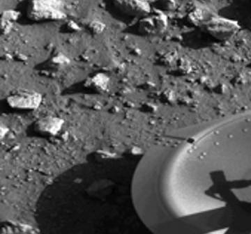 Obraz powierzchni Marsa z sondy Viking / Credits - NASA