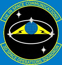 Emblemat 3. Dywizjonu Operacji Kosmicznych Sił Powietrznych Stanów Zjednocznych