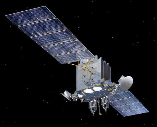 Wizualizacja satelity AEHF-1 (Lockheed Martin)